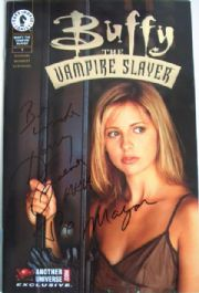 Buffy The Vampire Slayer #1 AU Gold Foil Dynamic Forces Signed Harry Groener DF COA comic book